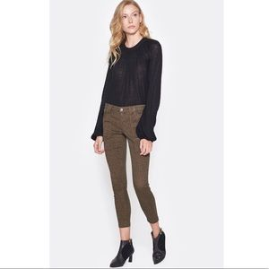 NWT Joie Park Skinny crop pants French Army 26